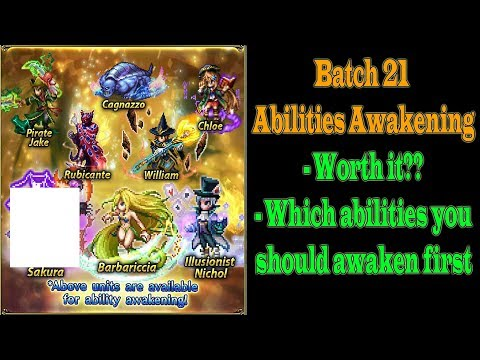 FFBE Batch 21 Abilities Awakening: Barbariccia and Others (#558)