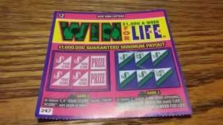WIN  $1,000 A WEEK FOR LIFE NY lottery ticket #2