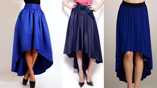 High low umbrella cut long skirt drafting, cutting and stitching step by step tutorial