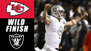 Raiders Beat Chiefs 31-30