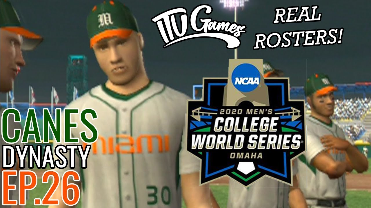 Championship on the Line! | Miami Road to 2020 College World Series #26 | MVP 07 NCAA Baseball (PS2)