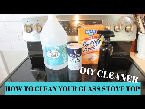 THE BEST STOVE TOP CLEANER // HOW TO CLEAN YOUR GLASS STOVE TOP NATURALLY // DIY STOVETOP CLEANER