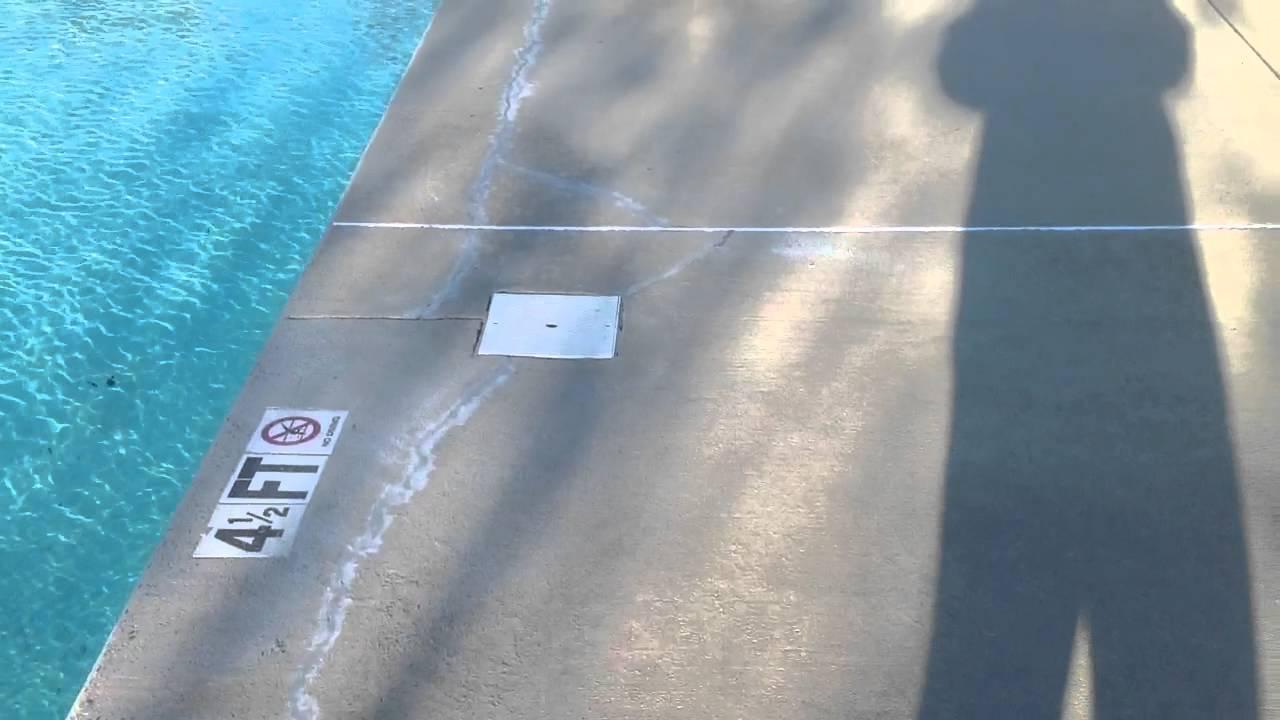 Pool Deck Crack Repair After Youtube