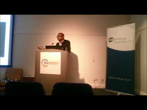 Community Energy Malawi's Edgar addressing All Energy in Scotland