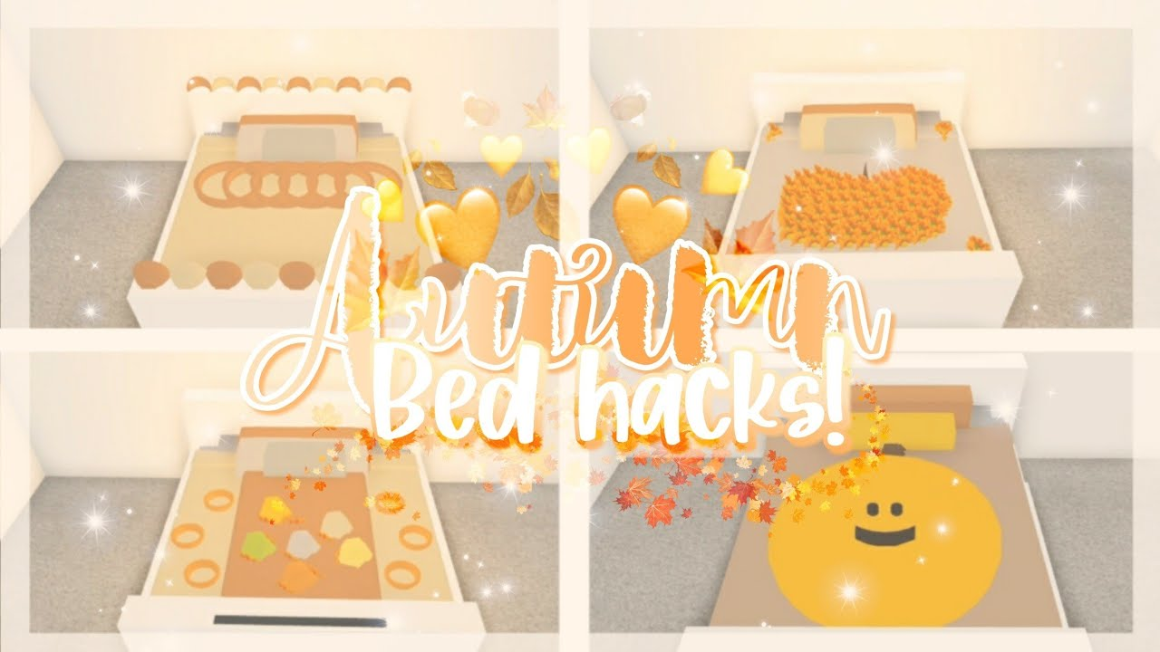 ♡Autumn/Fall Bed Hacks♡🍂🎃🍁 ▪︎adopt me building hacks▪︎ || Official Pineapples