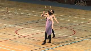 Twirling Bâton N2 Duo Aubière Médaille d'argent