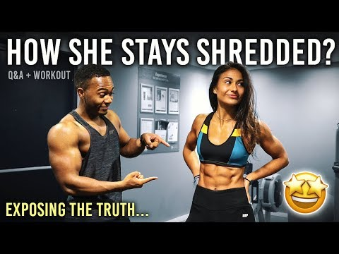 How She Has Her Sixpack ALL Year Round... Ft. Nutty Foodie Fitness Workout Routine?