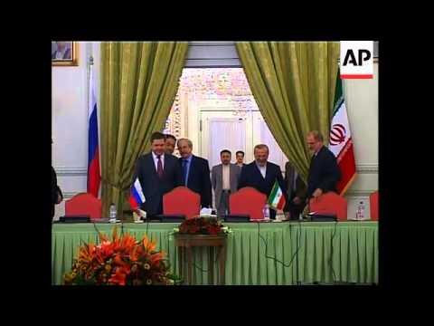 WRAP Larijani on plan for new nuclear sites, Mottaki, Russ energy min