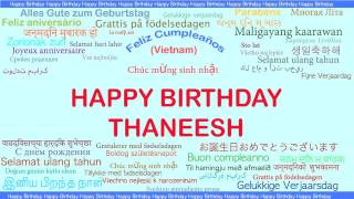 Thaneesh   Languages Idiomas - Happy Birthday