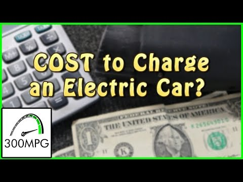 How Much To Charge An Electric Car?