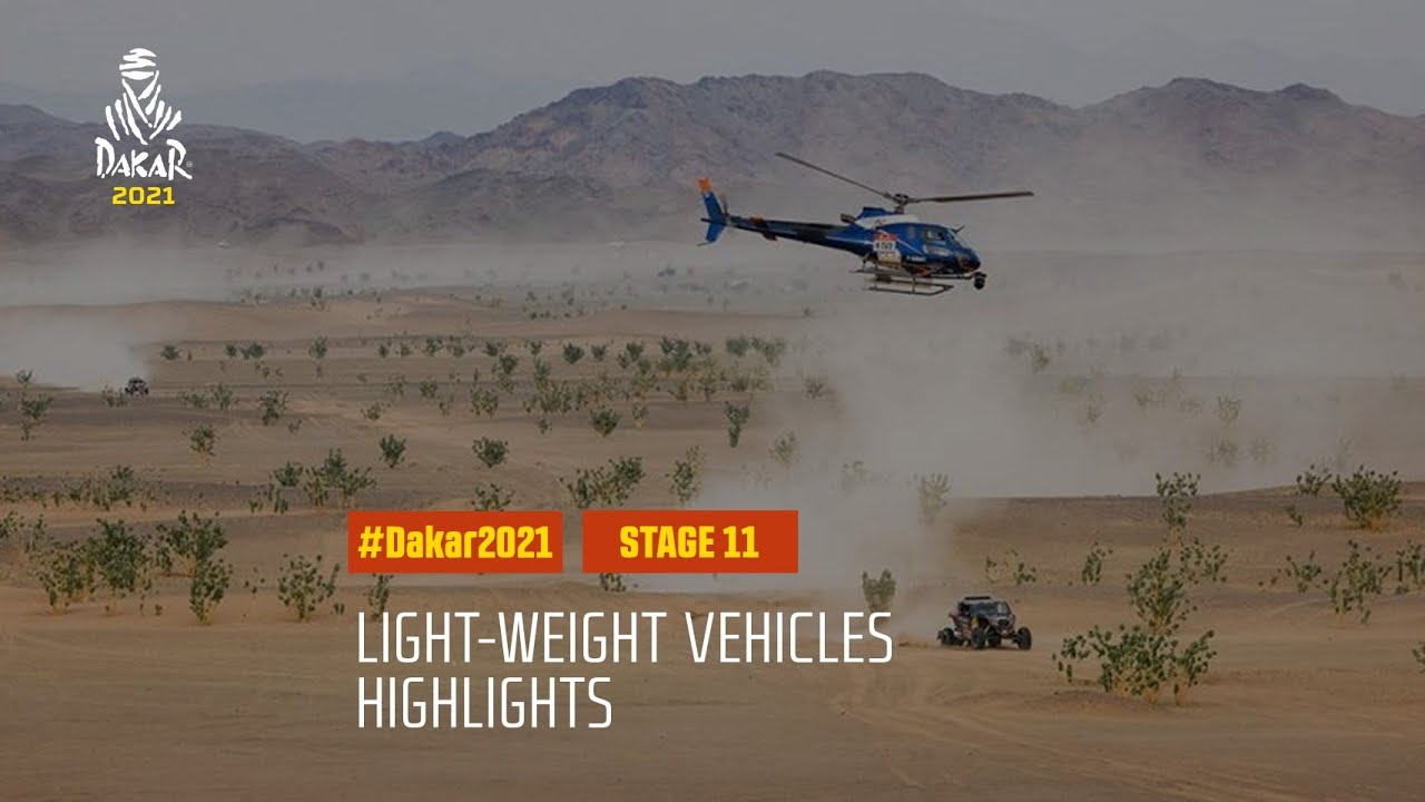 #DAKAR2021 - Stage 11 - AlUla / Yanbu - Light Weight Vehicle Highlights