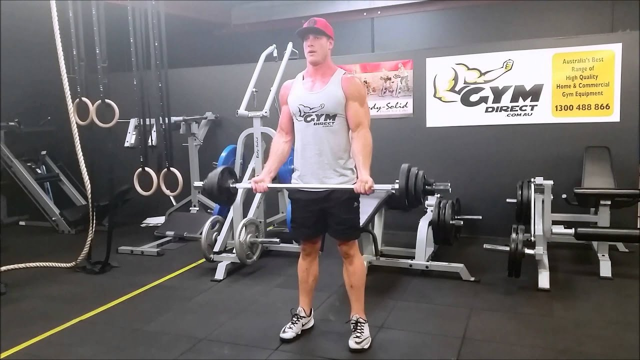 Bicep Curl Demo Using The 5ft Compact Olympic Barbell 700lbs