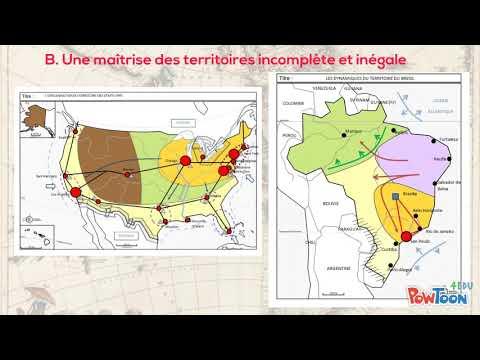 Les dynamiques territoriales des Etats Unis et du Brésil