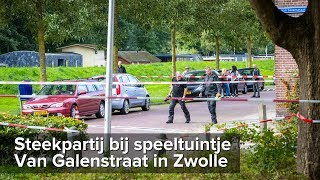 Man gewond bij steekpartij Van Galenstraat Zwolle - ©StefanVerkerk.nl