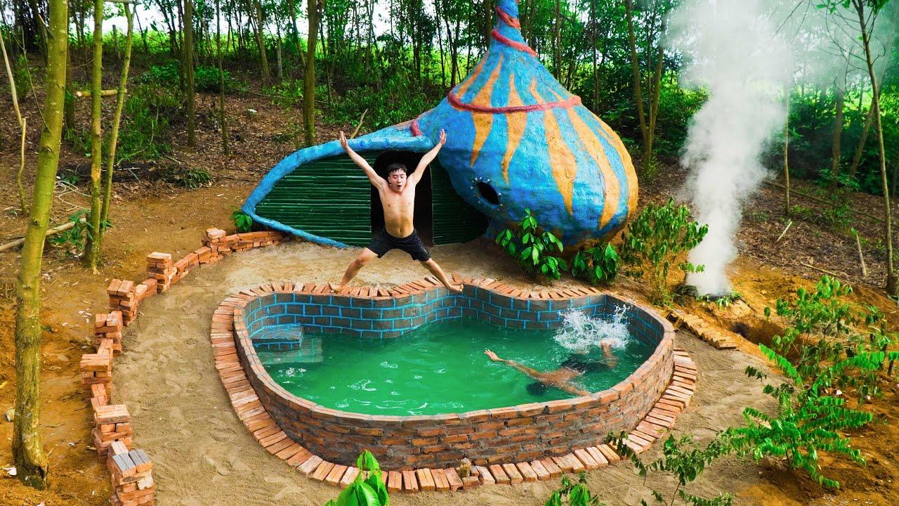 Build Underground Swimming Pool Around The Large Snail Shaped Underground House