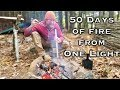 How to Keep a Fire Going For 50 days The way I did in Patagonia on Alone  (87 days episode 10)