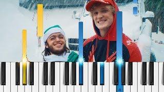 Logan Paul - SANTA DISS TRACK - Easy Piano Tutorial