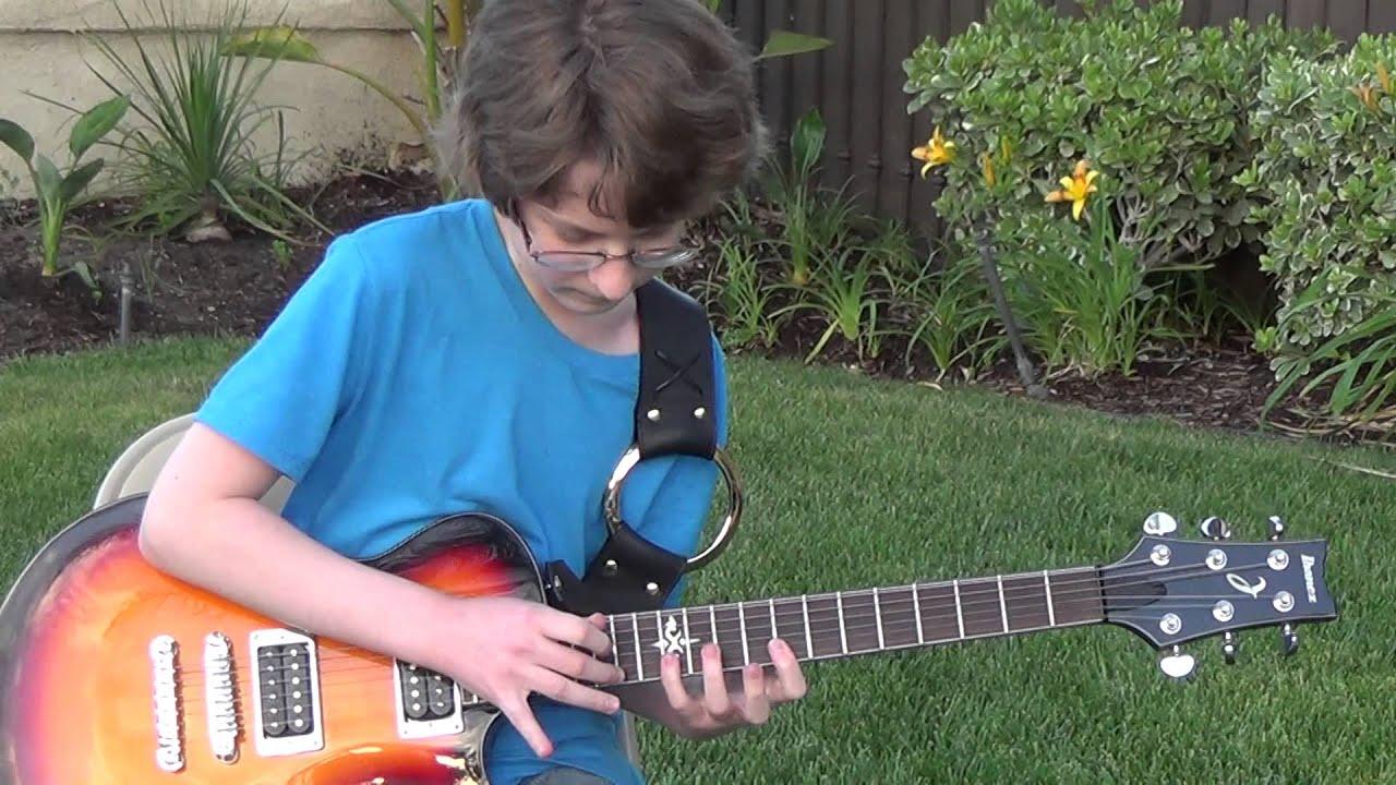 Beat It Solo Live Eddie Van Halen Michael Jackson Cover Child Guitar Prodigy Hd Youtube