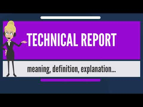 What is TECHNICAL REPORT? What does TECHNICAL REPORT mean? TECHNICAL REPORT meaning & explanation