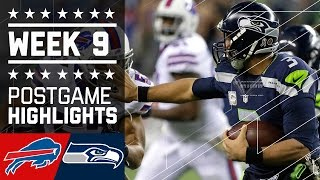 Bills vs. Seahawks | NFL Week 9 Game Highlights