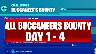 ALL Buccaneer's Bounty Challenges Fortnite Leaked Day 1,2,3 and 4