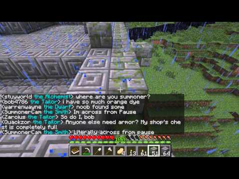 Dwarves Vs Zombies During Pause's Livestream -- Game #2 -- Minecraft with ChartreuseK