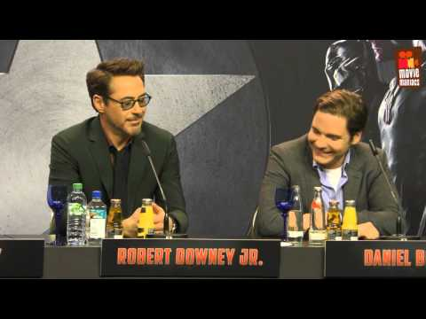 Captain America Team Iron Man | full Berlin press conference (2016)