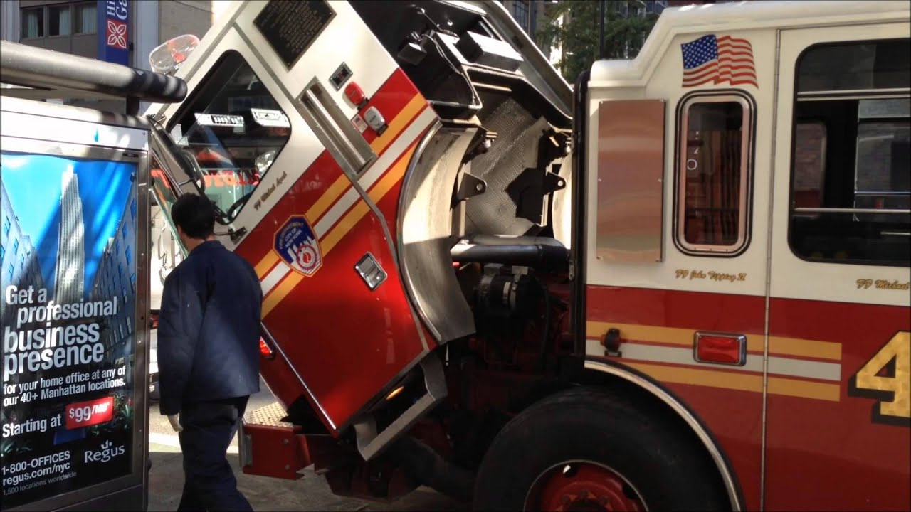 Seagrave Fire Apparatus >> FDNY LADDER 4, AS NEVER SEEN BEFORE, BEING SERVICED BY FERRARA FIRE APPARATUS INC. MECHANICS ...