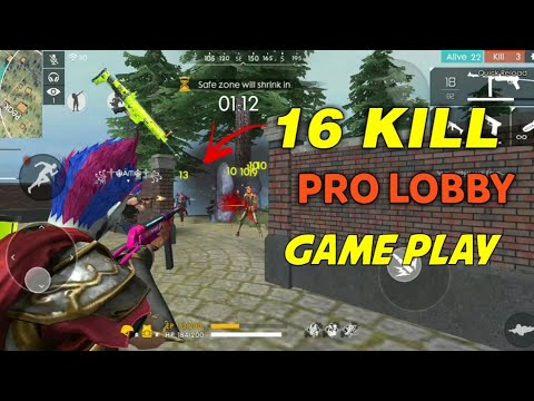 Free Fire | My 16 Kill Pro Lobby GamePlay (total) | Gameplay Highlights !!!