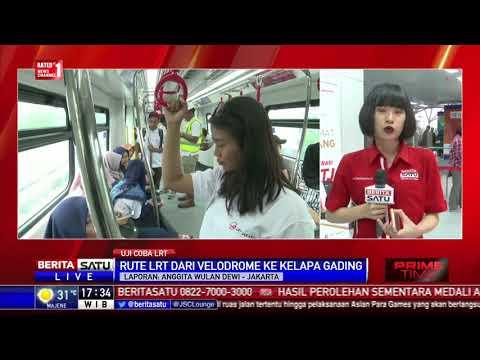 LRT Velodrome-Kelapa Gading Jalani Uji Coba Operasi