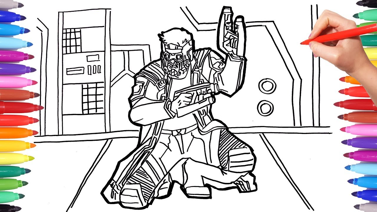 Marvel Guardians Of The Galaxy Coloring Pages Coloring Star Lord