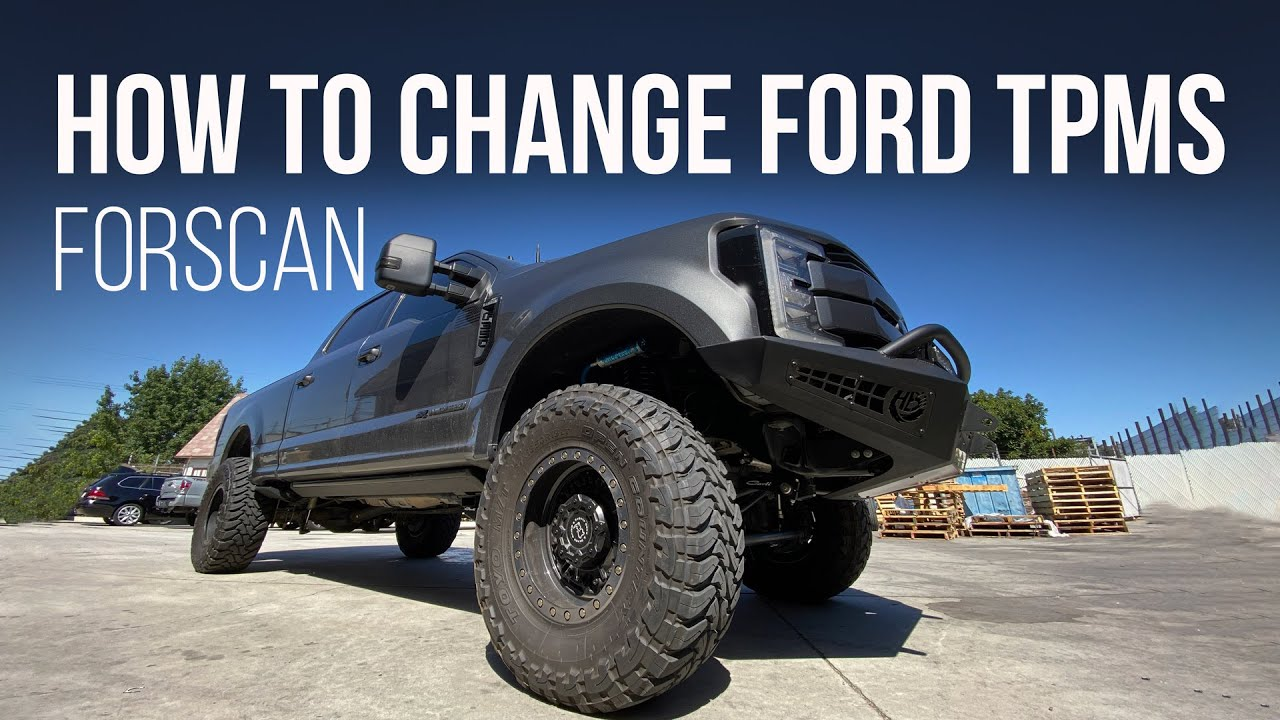 How to Change Ford TPMS Tire Pressure Using FORScan