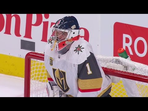 Golden Knights use fifth goalie of the season as Ferguson enters game for Lagace