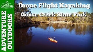 kayak drone flight goose creek state park