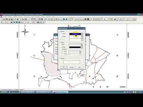 Creation des tables polygone polyligne point (Tp MapInfo)