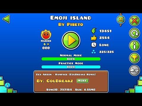 Geometry Dash: Emoji island by Piseto (EPIC harder)