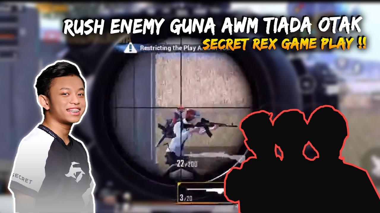 Skill Rex Tiada Otak Bila Rush Guna AWM  | Rex GamePlay | Pubg Mobile Malaysia
