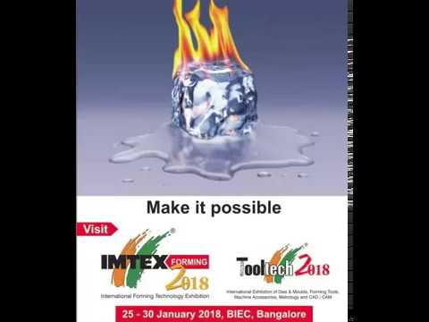 IMTEX - Indian Metal Forming Exhibition 2018 | Tooltech Bangalore 2018