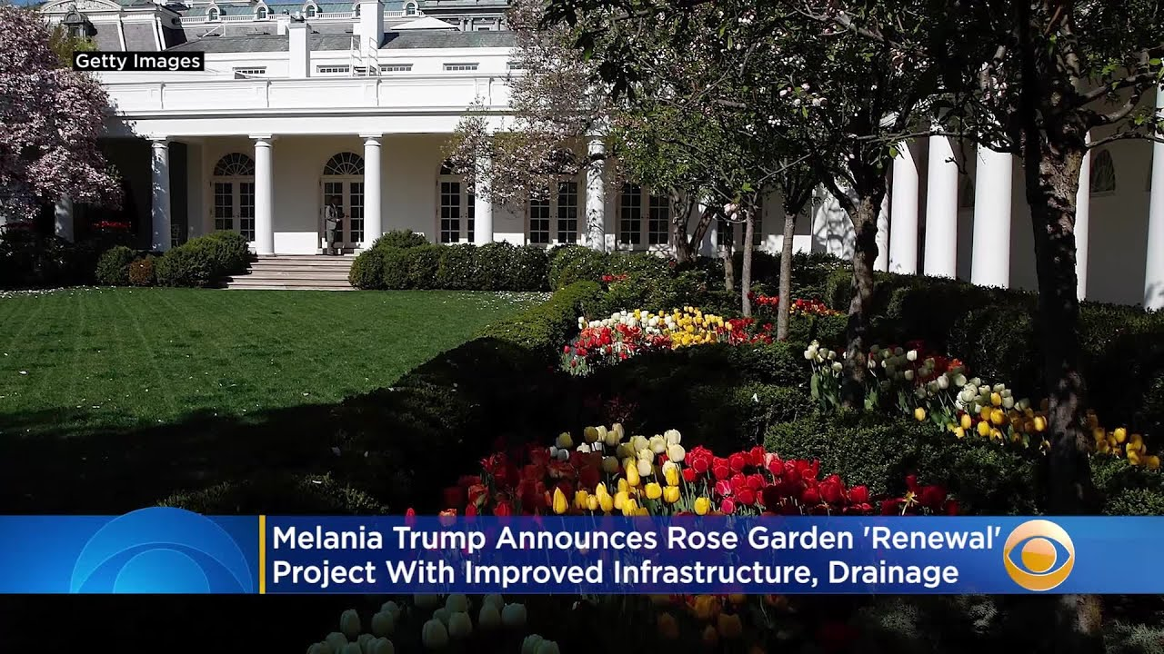 Melania Trump Announces Rose Garden Renewal Project Youtube