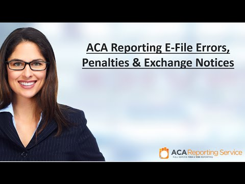 ACA Reporting E File Errors, Penalties   Exchange Notices