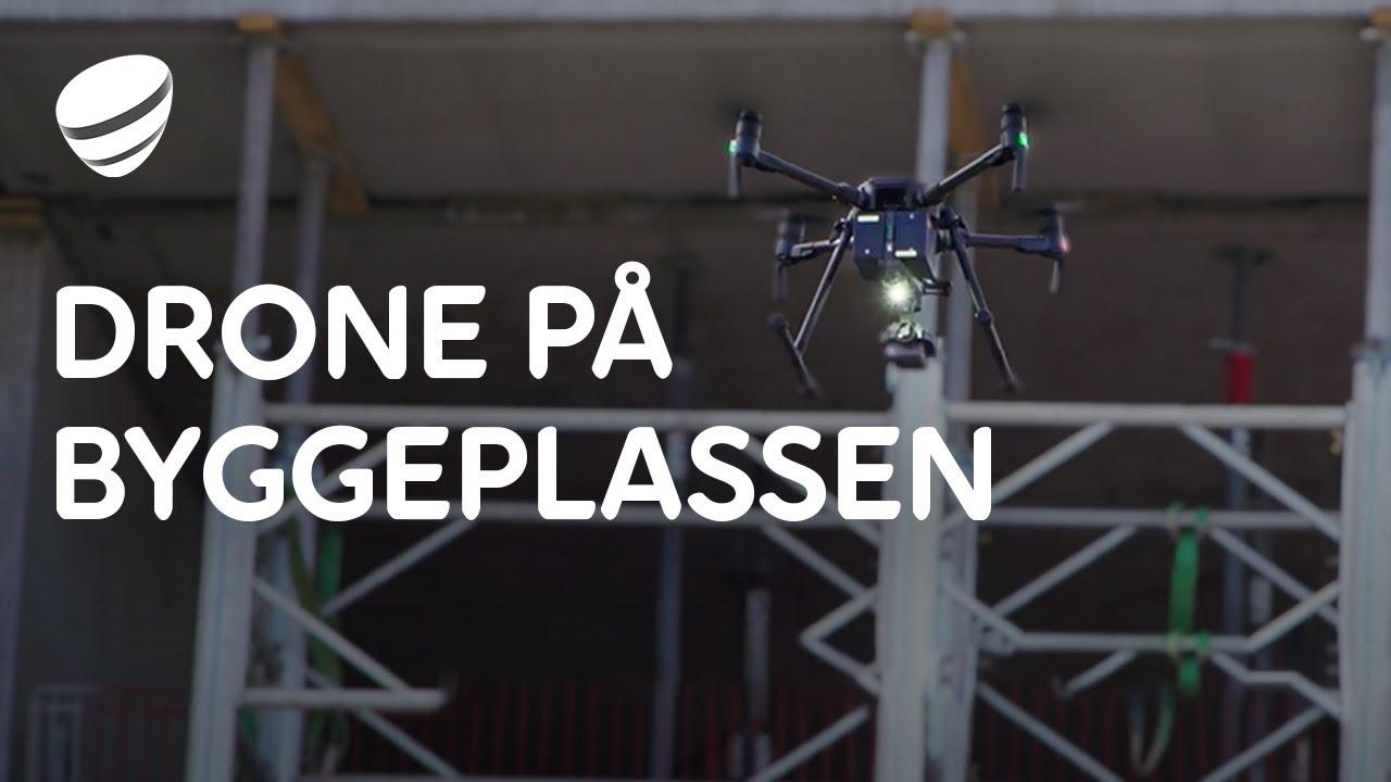 Bruk av droner på byggeplasser