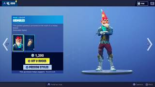 Fortnite Daily Item Shop! December 22! NEW SKIN Grimbles