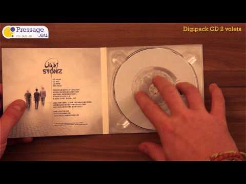 PRESSAGE.EU - Conditionnement : Digipack CD 2 volets