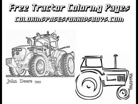 coloringbuddymike farm tractor coloring pictures youtube