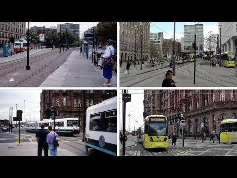 Manchester St. Peter's Square Metrolink Contrasts 1990s - 2017