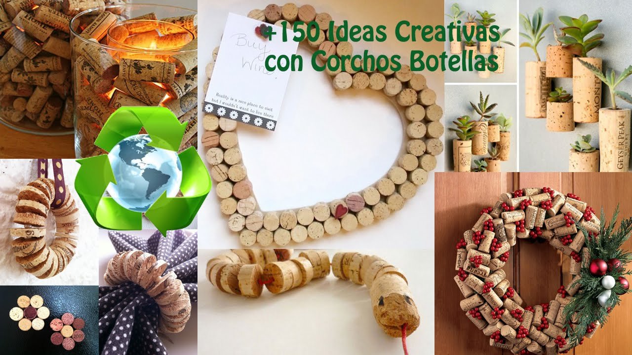 Ideas Con Reciclaje De Corchos De Botellas Youtube - Ideas-de-reciclaje