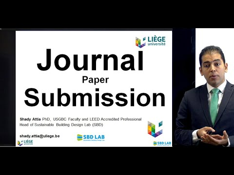 Journal Paper Submission Process (french Subtitles)