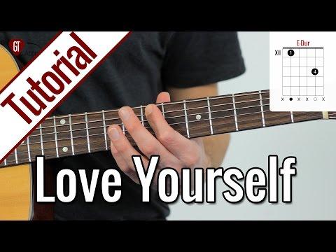 Justin Bieber - Love Yourself | Gitarren Tutorial Deutsch