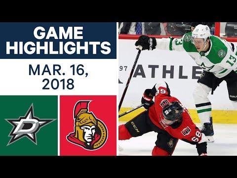 NHL Game Highlights | Stars vs. Senators - Mar. 16, 2018