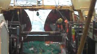 Icelandic trawler at sea